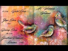 Birds Creative Dyary Art Journaling - YouTube