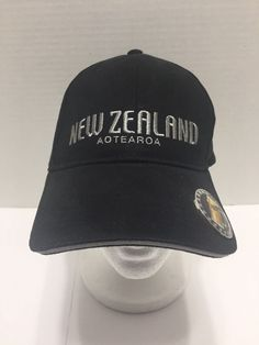 New Zealand Aotearoa Bottle Opener Adjustable Black Hat Cap Beer Mug NWOT #Prokiwi #BaseballCap