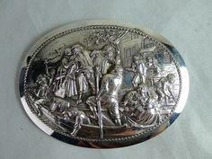 Antieke zilveren gesp, Nederland, 19e eeuw