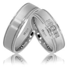 Verighete ATCOM Lux ZENOVIA aur alb Wedding Rings, Engagement Rings, Memories, Jewelry, Diamond, Lush, Enagement Rings, Memoirs, Souvenirs