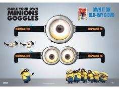 printable minion goggles