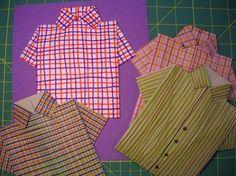 How to fold a shirt Two Piece Skirt Set, Paper Crafts, Ruffle Blouse, Cards, Shirts, Diy, Women, Fashion, Moda