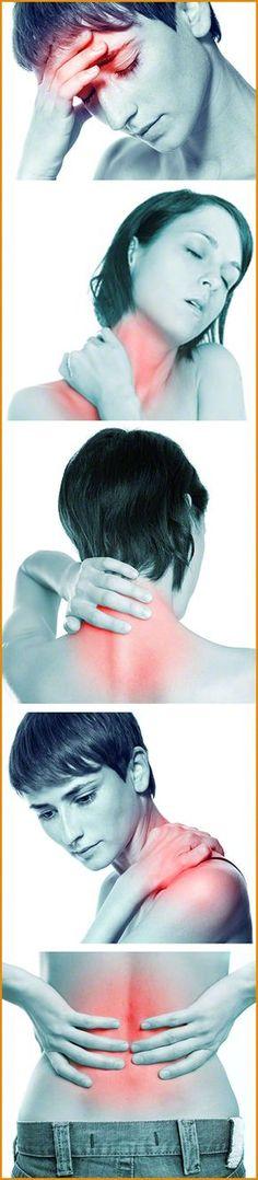 Die Beschwerden werden von einer Atlasfehlstellung verursacht: Kopfschmerzen, Nackenschmerzen, Rückenschmerzen