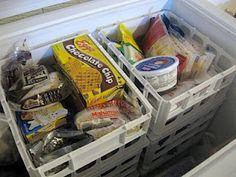 Organized Deep Freezer..oh my goodness...i so need this!