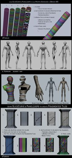 Zbrush wraps and cracks tutorial, slice tool Zbrush Character, 3d Model Character, Character Modeling, Character Design, Character Art, Zbrush Tutorial, 3d Tutorial, Sculpting Tutorials, Art Tutorials