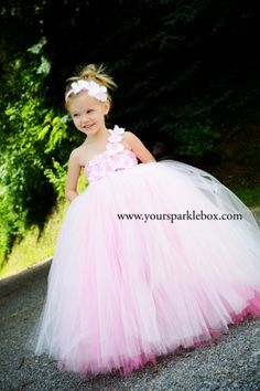 Pink Hydrangea Tutu Dress for pageants weddings birthdays or dress up 12m 18m 2t 3t 4t