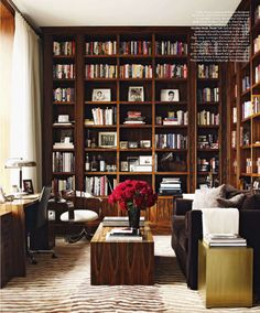 Nice study room. I could get lost in this room....books that is.