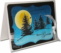 Brayered night holiday card and video:  http://stampwithtami.com/blog/2009/10/video-tutorial-brayered-night-sky-holiday-card/