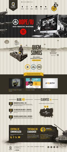 Unique Web Design, Quartel Design #webdesign #design (http://www.pinterest.com/aldenchong/)