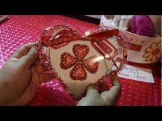 SAN VALENTIN:corazon de acetato con dulses+cartita ORIGINAL - YouTube