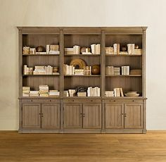 Library Triple Bookcase From Restoration Hardware