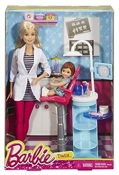 Play out a variety of health care careers with Barbie doll play sets because she knows you can be anything! Barbie doll is ready to see patients with furniture for a stylish office accessories to pla... Mattel Barbie, New Barbie Dolls, Barbie And Ken, Barbie Kelly, Playsets For Sale, Stylish Office, Christmas Toys, Doll Accessories, Office Accessories