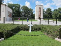 General George Patton's grave at Luxembourg American Cemetery and Memorial - Luxembourg, Europe