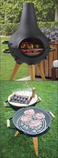 Transforming Chiminea Grill