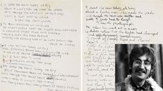 August 27: Today in 1992, John Lennon's handwritten lyrics to The Beatles song 'A Day In The Life' sold at auction for $100,000