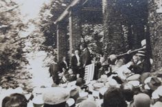 Original unpublished photograph of Teddy Roosevelt speaking at The Gettysburg National Cemetery Memorial Day 1912.