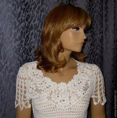 """Летняя блуза """"Жанна"""" – купить или заказать в интернет-магазине на Ярмарке Мастеров   О скидках и бонусах<br /> <a…"""