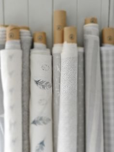 Lots of our pretty grey patterns lined up for shipping x x Bungalow Interiors, Fabric Photography, Touch Of Gray, Pretty Bedroom, Textiles, Linens And Lace, Grey Pattern, Fabric Ribbon, Fabulous Fabrics