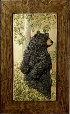 Animal art Ceramic tile Home decor Bear by MedicineBluffStudio, $200.00