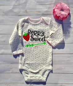 Baby Girl/ baby girl Onesie/Berry Sweet/Baby Shower Gift/ baby girl gift/Strawberry onesie by sunnyvilledesigns on Etsy https://www.etsy.com/listing/554459420/baby-girl-baby-girl-onesieberry