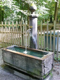 Water trough feature