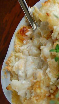 Crab Macaroni and Parmesan, Mozzarella, and Ricotta Cheese   :)     ~ via Northwest Noshings