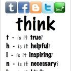 Free!  Following the trend of many others, this is a PDF of the THINK before you Text, Facebook, Tweet, Blog...