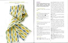 VK-Crocheted Scarves - mercheanais - Álbuns da web do Picasa...ripple pattern scarf..free written pattern!