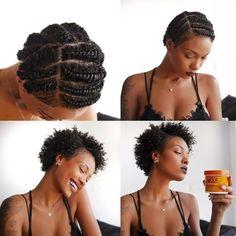 Short Natural Hair, Hair Styles, Ideas and Inspiration, Black Girl, Black Hair, Braids