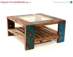 Etsy Featured Seller Sale Coffee Table Square by EcologicaMalibu, $320.00