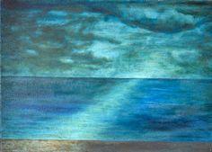 Ca0029  Óleo tela 70x50x2 cm   Reflejo en el mar