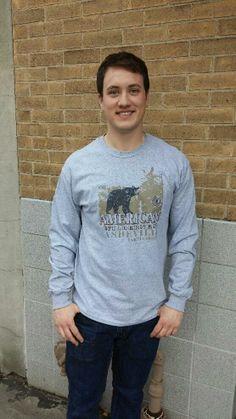 Men's T-shirt gray- Long sleeve - spring style fashion @ Black Bear Trading Asheville N.C.