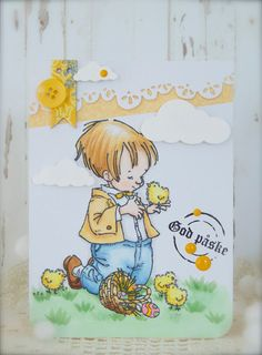 Synnøves Papirverksted: Ny utfordring hos Sketchy Colors! Easter card, Card for easter, Copics, Penny Black stamps, cute card, simple card, handmade card, Memory Box dies,