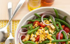 Grilled Corn Salad with Green Beans and Tomatoes