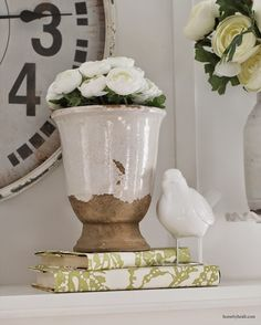 Need To Get Some Bird Houses For The Spring Mantle Fireplaces Mantle Decor Pinterest