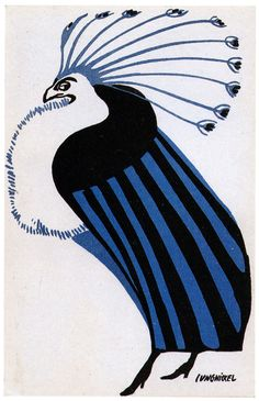 Postcards of the Wiener Werkstätte by Ludwig Heinrich Jungnickel, postcard 381