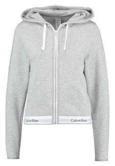 Calvin Klein Underwear HOODIE FULL ZIP - Pyjamanstopp - grey - Zalando.se