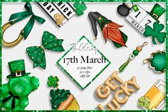 Click here and download the Saint Patrick's Day Clipart Set graphic · Window, Mac, Linux · Last updated 2021 · Commercial licence included ✓ St Patricks Day Clipart, School Projects, Diy Projects, Graphic Illustration, Illustrations, Create Invitations, Color Profile, Create A Logo, Red And Pink