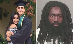 Pictured, the college graduate who was stabbed in the neck in cinema