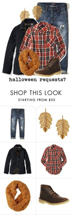 """""""Halloween Requests?"""" by evil-laugh ❤ liked on Polyvore featuring Hollister Co., Marika, L.L.Bean, Aéropostale, Burton and Clarks Originals"""