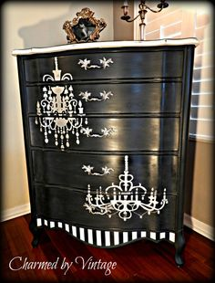Chandelier Chest of Drawers RESERVED for CAROL by CharmedByVintage