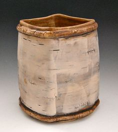 Birch Basketry Four by Lenore Lampi: Ceramic Vessel available at www.artfulhome.com utensils in kitchen?