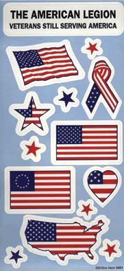U.S. Flag Patriotic Stickers - Item Number: 750.141 - Price: $0.20 National Flag, Item Number, Stripes, Stickers, Decals