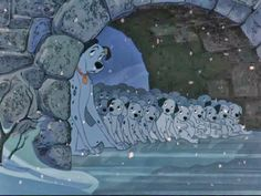 101 Dalmatians, hiding from Cruella Pongo & puppies Disney Pixar, Walt Disney Animation, Disney Films, Disney And Dreamworks, Disney Love, Disney Magic, Disney Movie Scenes, Disney Animated Movies, Fanart