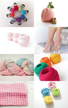 My crochet rose buds have just been featured on this gorgeous treasury list, Yarn Made by Vishruti from TheIndianBazaar