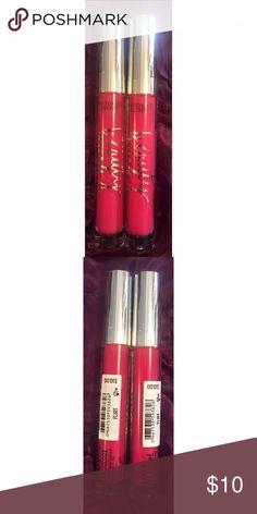 Victoria's Secret Color Shine Gloss Set in Flirt Includes: 2 Color Shine Glosses in Flirt, New Victoria's Secret Makeup Lip Balm & Gloss