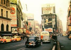 New York City, 1930s, cars, signs