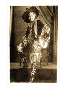 Vintage Cowgirl Photo