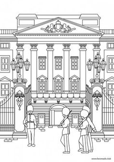 Buckingham Palace Printable Adult Coloring Page