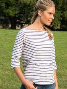Blue Sailor Striped T Shirt | by bibico